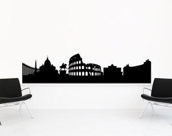 Rome Skyline, Rome Italy, Rome Wall Art, Skyline Decal, Wall Decal, Ancient Rome, Sticker, Vinyl, Wall, Home, Bedroom, Office, Dorm Decor