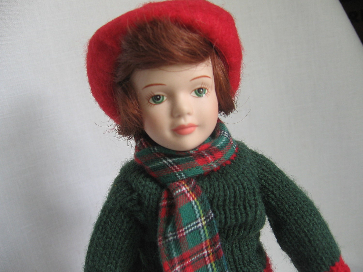 avon doll porcelain collectible doll skating party winter