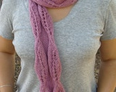 Angora Mohair pink SCARF- Ready to Ship