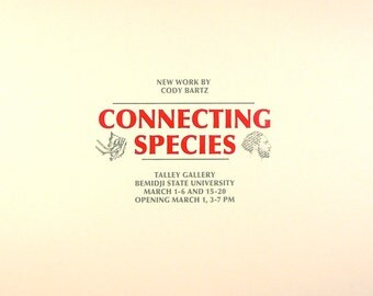 Connecting Species screenprinted exhibition poster