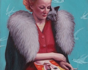 Helen & the Silver Fox - Fine Art Print
