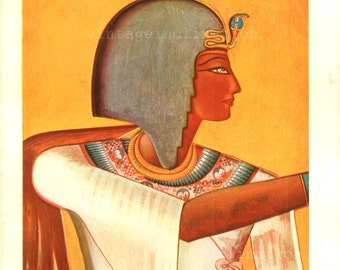 Egyptian Art, The Colour Of The Ancient Empires,  Antique print 1933