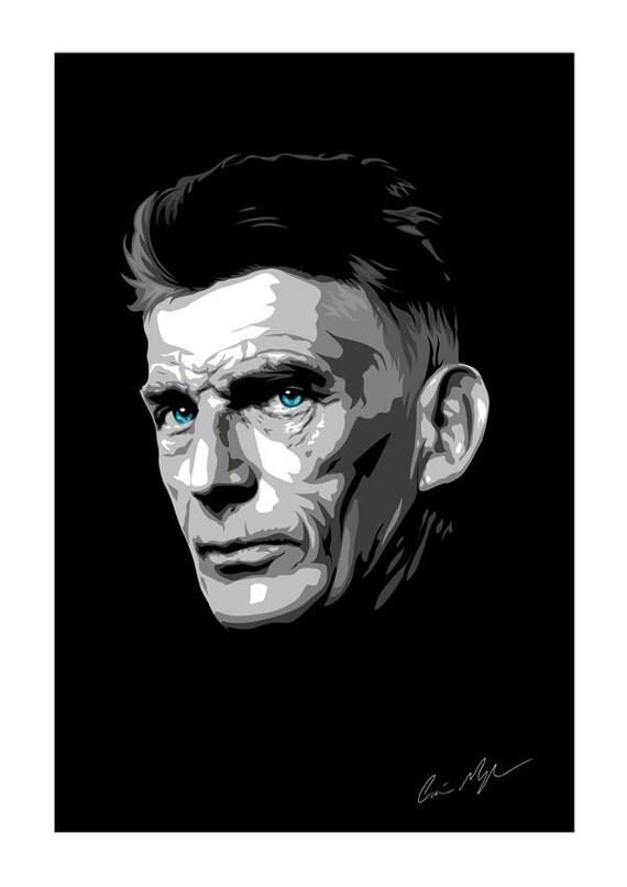 Samuel Beckett Giclee Art Print - A3 Portrait