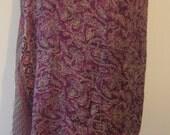 Chiffon Silk shawl - handpainted batik