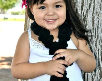 Photography Prop Black Pom Pom Boa Scarf Toddler Photography