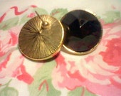 AVON 1986/From 5th Avenue Collection Black Facet Earrings