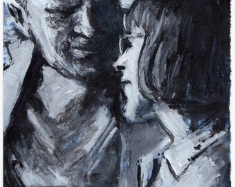Original Painting - 'Father and Daughter' by Peter Mack