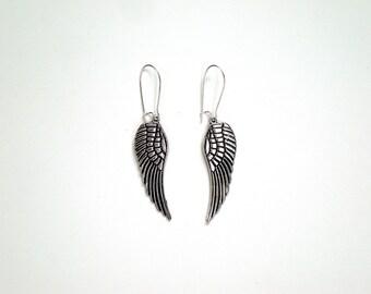 SALE Silver Wing Earrings / Vintage Inspired / Steampunk