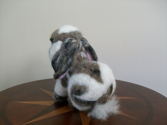 Needle Felted Rabbit - Holland Lop