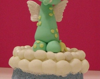 Cold Porcelain Cake Topper/ Centerpiece Baby Dragon
