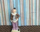 Clown / Ceramic / Figurine / Circus / Vintage