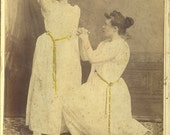Studio portrait of two actresses. Cabinet photograph by G. C. Mears, Gloucester, MA. 1889.