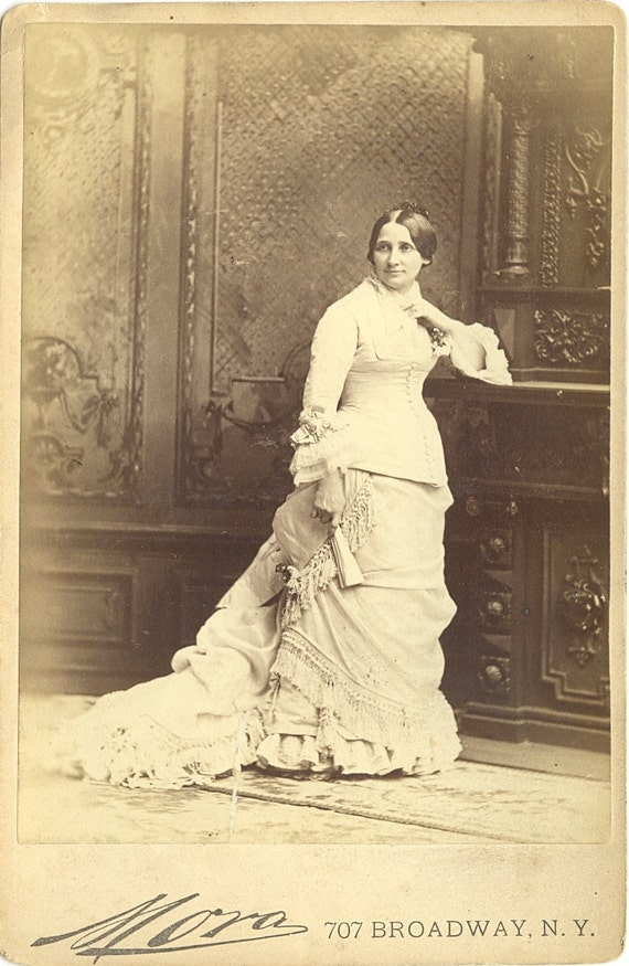 Mrs. Rutherford B. Hayes portrait by Mora, cabinet photograph, ca. 1880.