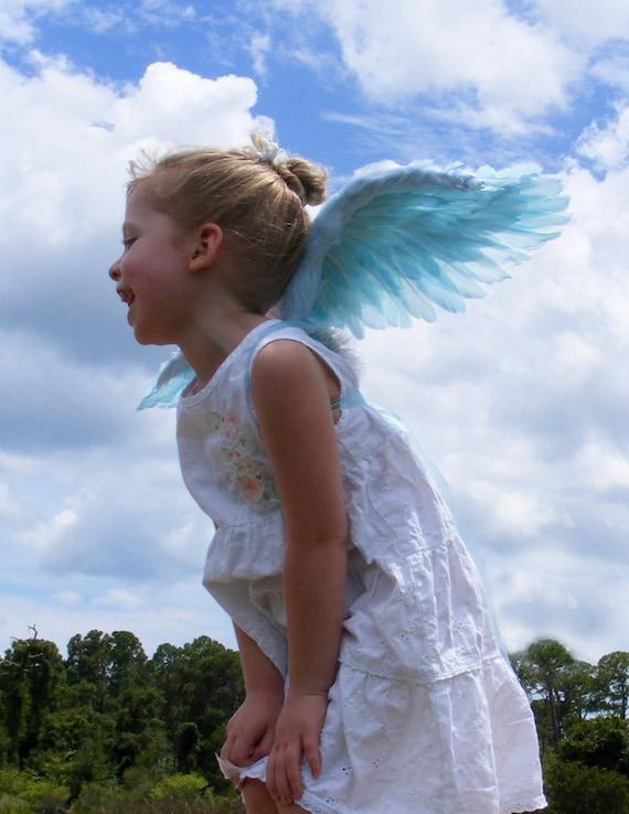 Costume Wings - Sky Blue - 5T-6T