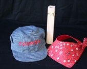 PERSONALIZED Three Piece Train Hat Set