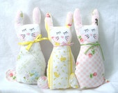 Bunny Rabbit plush made from Vintage bed sheets
