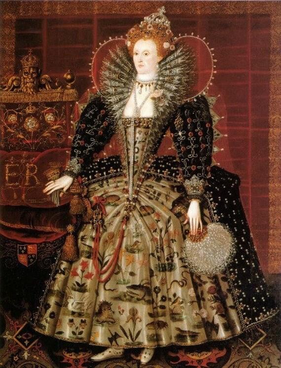 Print of Queen Elizabeth I by Hilliard