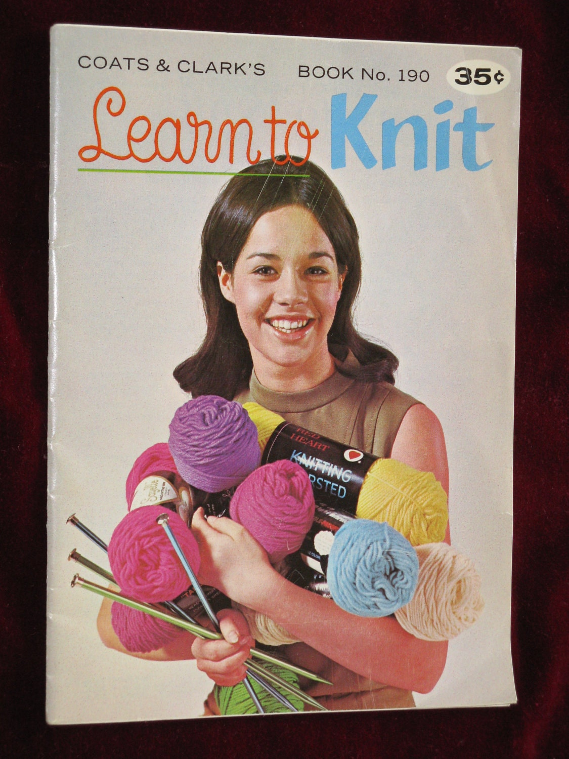 Vintage Knitting Books : Vintage coats and clark learn to knit book patterns dated