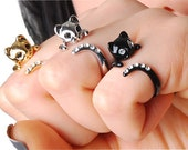 Stock Clearance - Buy 2 Get 1 Free - Beautiful Swarovski Crystal Cat Ring
