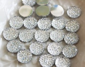 25pcs.. 12mm Sparkly Round Cut Bead in Clear
