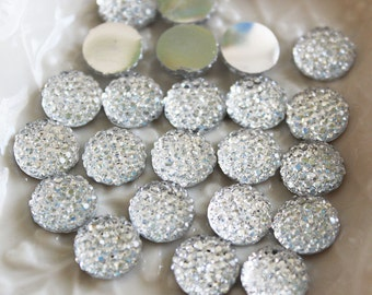 25pcs.. 8mm Sparkly Round Cut Bead in Clear