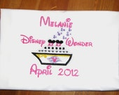 Disney Cruise personalized girl's embroidered character autograph pillowcase
