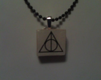 Wizard Inspired Symbol Scrabble Tile Pendant - Gift for Her or Him