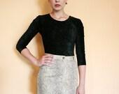 Vintage Snake Skin Print Mini Pencil Skirt Size S