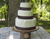 Rustic Cake Stand, Wood Cake Stand, Log Cake Stand, Stump Cake Stand, Rustic Wedding, Personalized Cake Stand, Bark Cake Stand