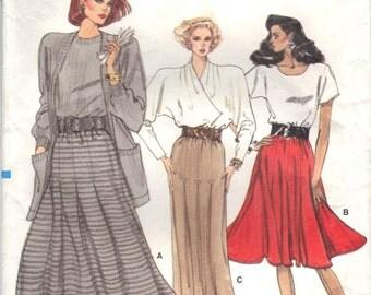 1987 UNCUT Vogue Vintage Plus Size Classic Skirt Pattern