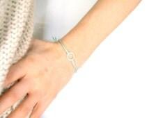 Mint Green Eternity Bracelet: Adjustable Cord Bracelet, Mint String Bracelet, Friendship Bracelet UK