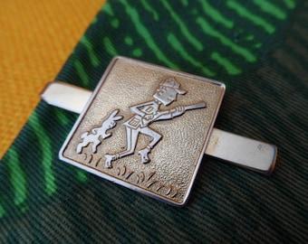 Great White Wabbit Hunter Tie Clip rabbit hunting vintage retro