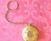 Charming and Unusual Pill Box Or Coin Holder with Finger Ring