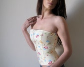Yummy Yellow Mushroom Corset - With Completely Separating Zipper - Small