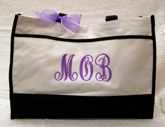 Personalized Mother of Bride or Groom Wedding Tote Bag