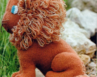 Knit Lion Toy Vintage Knitting PDF PATTERN