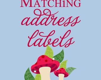 Matching Printable Return Address Labels DIY