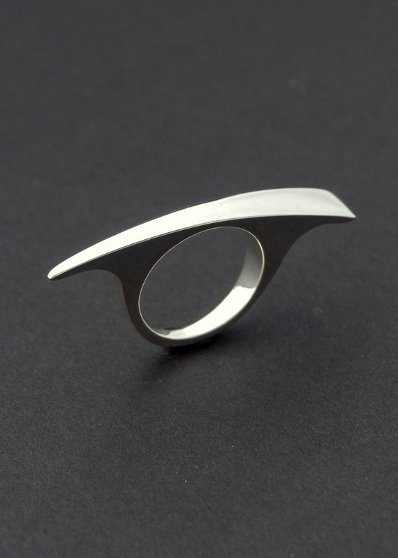 Tapered bar ring - Sterling silver modern minimalist ring