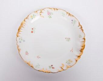 Vintage Haviland Limoges Plate CFH GDM Hand Painted France Heavy Gold Trim 1881-1890