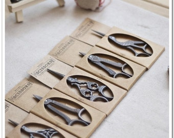 Vintage Style,Stainless Steel,Antique Bronze Scissors,5Pcs per set (T9)