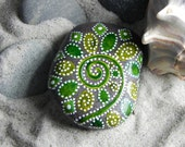 Fiddlehead Fireworks / Painted Rock / Sandi Pike Foundas / Cape Cod