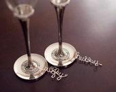 Fun Wedding Gifts, Sweetheart Table Decor, Wine Glass Charm Set