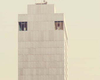 The Watchers, Modern Urban Art, Surreal Minimalist Street Photography, City Architecture, Retro Inspired Yellow