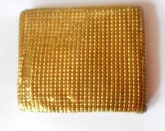 1940's Gold Mesh Wallet RAU Fasteners Co. Vintage