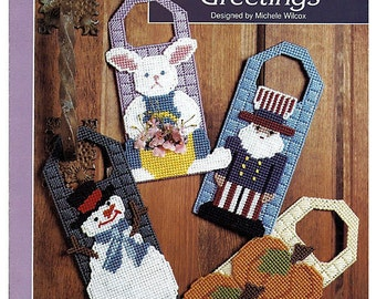 Seasonal Door Greetings Plastic Canvas Pattern The Needlecraft Shop 913319