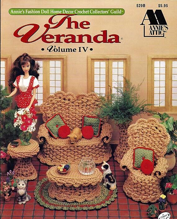 The Veranda Fashion Doll Furniture Crochet Pattern Annies Attic 529B