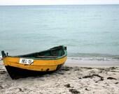 nautical home decoration nature photography print rustic bath decor art dinghy boat on the beach vacation photo 4x6 5x7 6x8 8x10 8x11 10x15