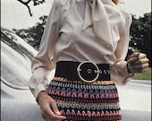 No.144 PDF Vintage Crochet Pattern Women's Skirt Of Many Colors - Retro Crochet Pattern - Instant Download - Above The Knee