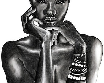 Ajuma - The Beauty Collection - 8.5x11in Art Print