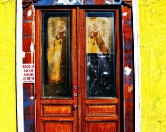 ALLEY DOORWAY DOWNTOWN Art Photo Print